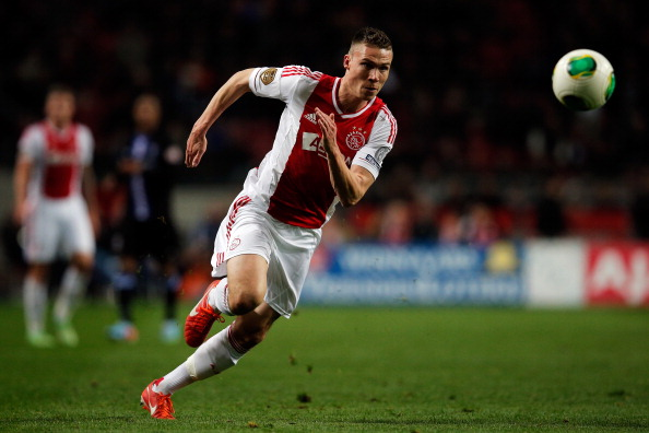 Derk Boerrigter of Ajax in action during the  Eredivisie match between Ajax Amsterdam and SC Heerenveen at Amsterdam Arena on April 19, 2013 in Amsterdam, Netherlands.  (Getty Images)