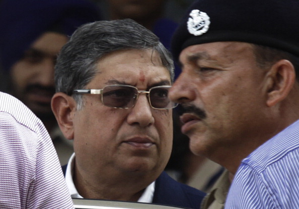BCCI Chief Narayanaswami Srinivasan In Mumbai