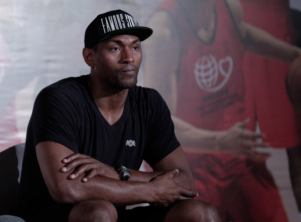 Metta World Peace attends 2013 Yao Foundation Charity Game press conference on June 29, 2013 in Beijing, China.  (Getty Images)