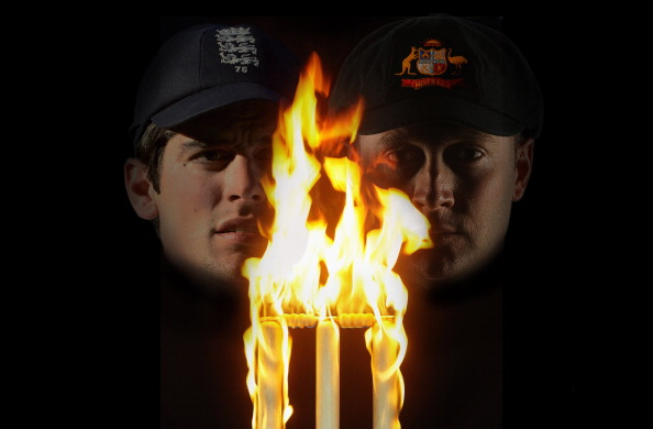 This composite photo illustration shows England captain Alastair Cook (L) and Australia captain Michael Clarke. The two captains will lead their respective countries in the upcoming Investec Ashes test match series, the first of which starts at Trent Bridge on July 10, 2013 in Nottingham, England. (Getty Images)