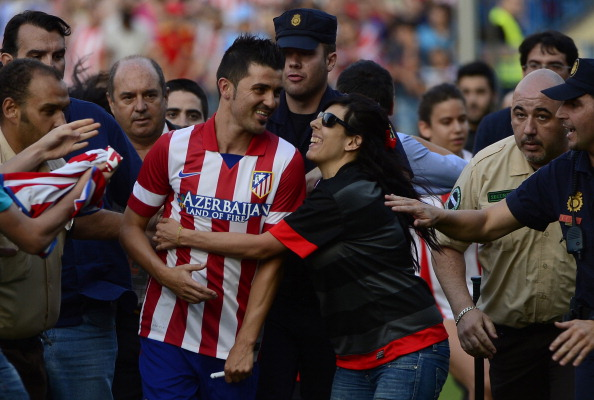 David Villa: hounded by Atletico Madrid fans