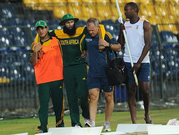 Hashim Amla suffered a serious injury