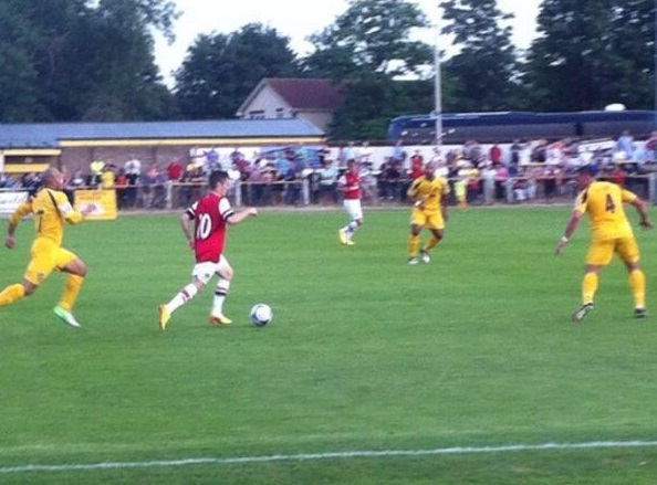 Dan Crowley runs at the Sutton defence