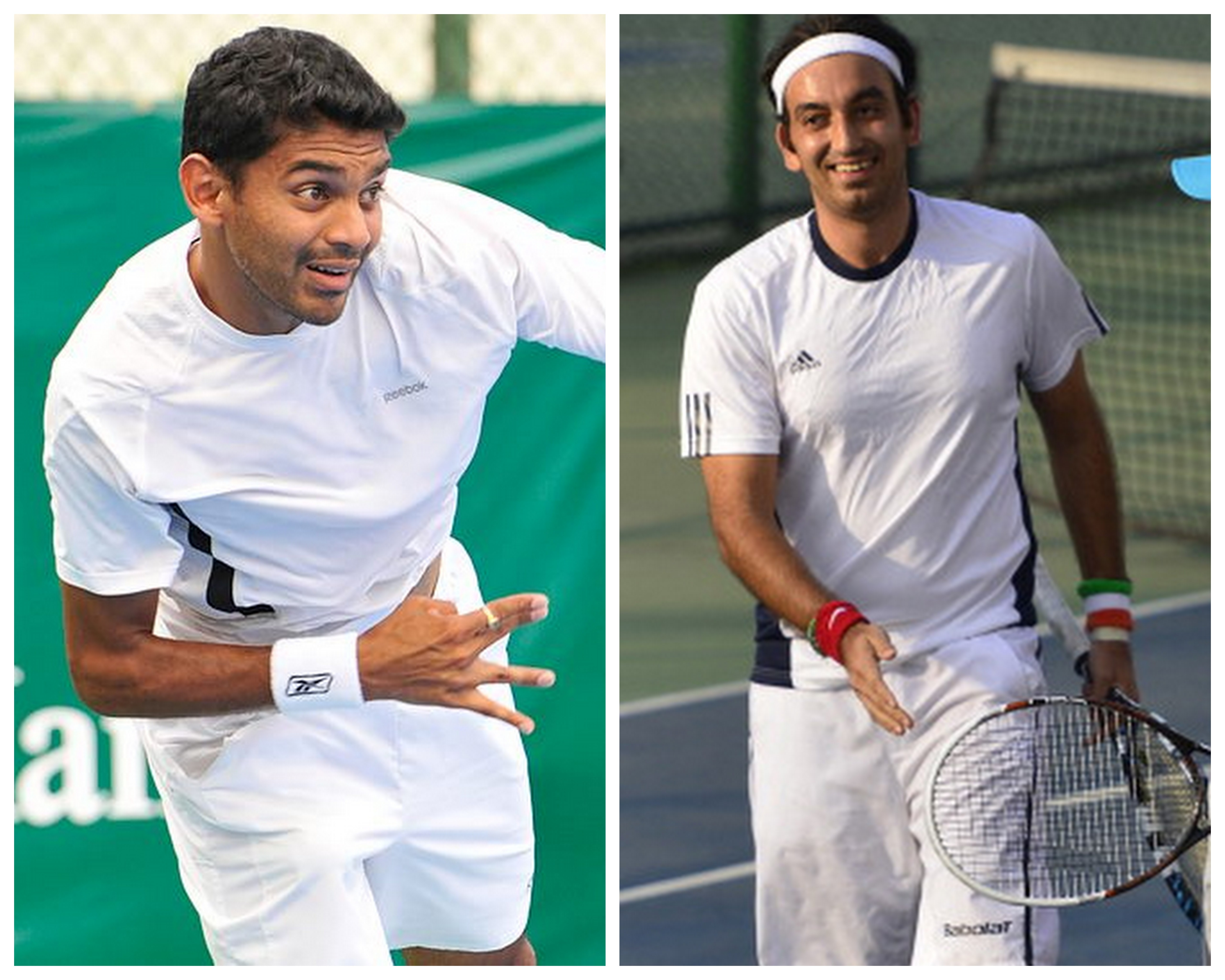 27-year-olds Purav Raja (R) and Divij Sharan (L) are through to their first ATP level semi-final at the Clara Open in Bogota. (Getty Images)