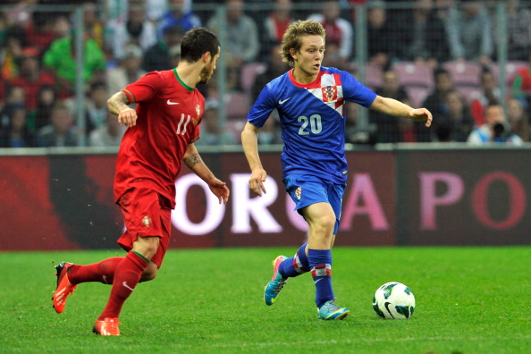 Halilovic (R) is Croatian first division's youngest ever scorer and the also the youngest ever player to debt for the Croatian national team