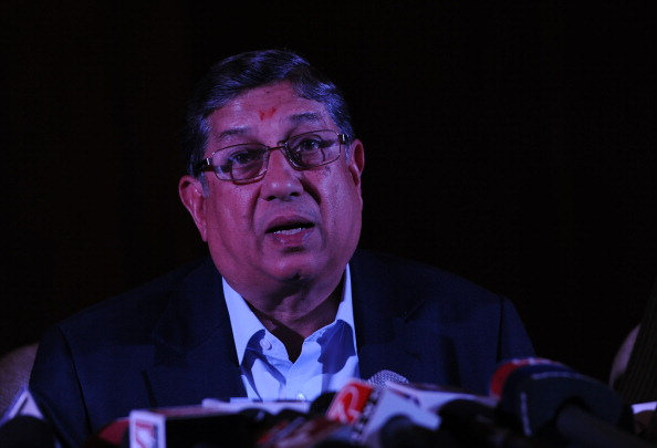 BCCI chief Srinivasan addresses media