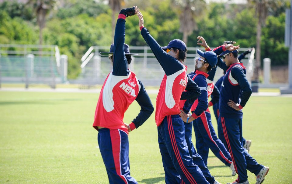 Nepal National Cricket team during training session in Kathmandu