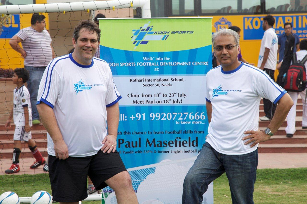 Paul Masefield- Technical Director KOOH Sports with Chirag Patel - Director & CSO KOOH Sports