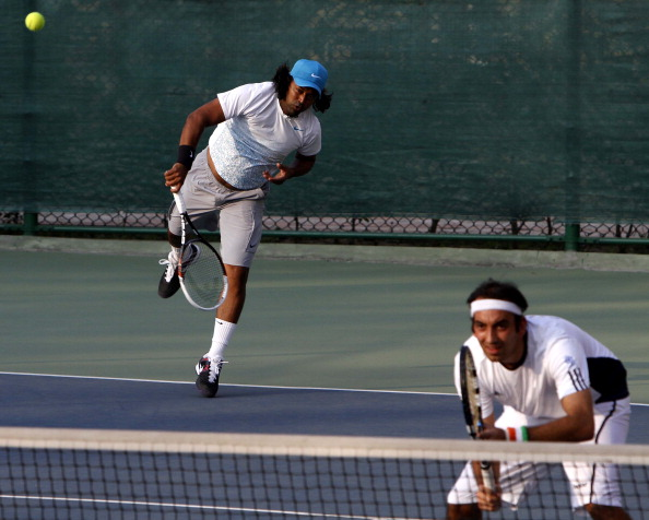 Indian And South Korean Teams Practice Session For Davis Cup Tie