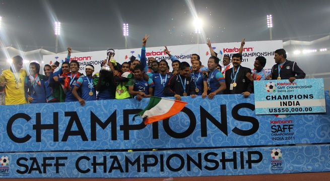 India will be the defending champions at the 2013 SAFF Championship (Photo Credit: AIFF Media)