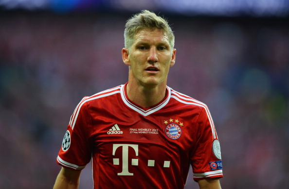 Bastian Schweinsteiger has beennamed as the German Footballer of the Year 2013