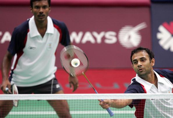 Indian badminton pair Rupesh Kumar V.T.K