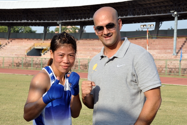 Viren with Mary Kom