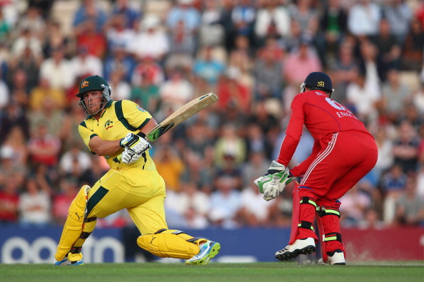 Australia smashed a record 18 sixes during their innings 248/4 against England on Friday