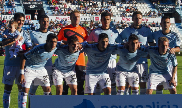 Celta team pose prior to their friendly match against Southampton August 3, 2013