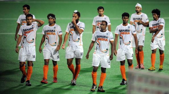 Indian hockey captain Rajpal Singh (4th