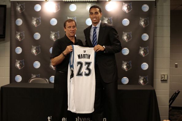 Kevin Martin of the Minnesota Timberwolves Portaits and Introductory Press Conference