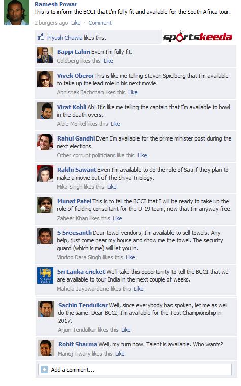 Fake FB Wall: Ramesh Powar trolls the BCCI, gets trolled back