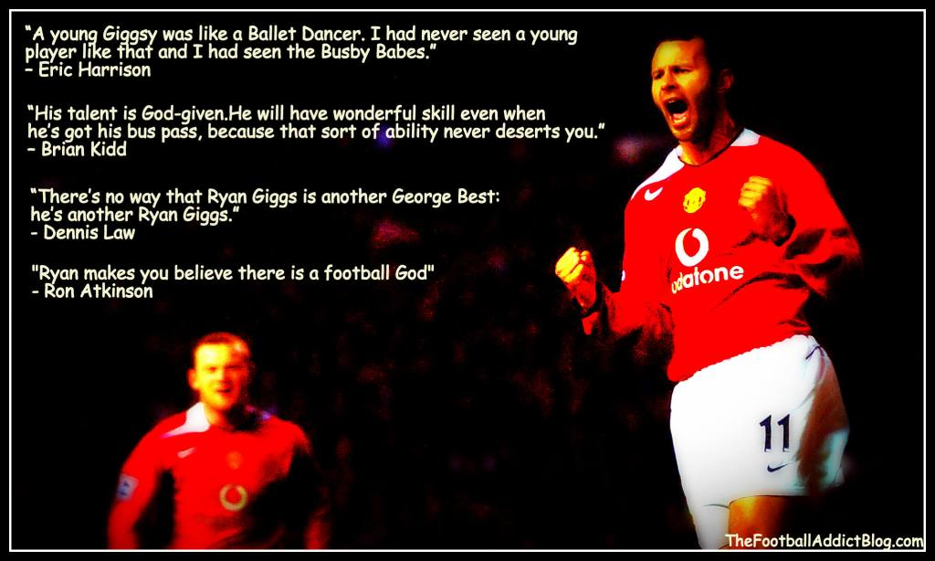 Manchester United's Ryan Giggs (R) celeb