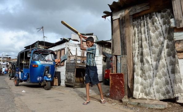 Children Play Cricket In Streets Outside R Premadasa Stadium