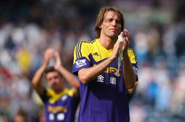 Michu will lead Swansea's attack against Valencia
