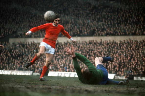 3a27bf1f575 Manchester United s George Best scoring against Sheffield Wednesday (1968)