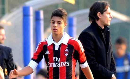Hachim Mastour of AC Milan