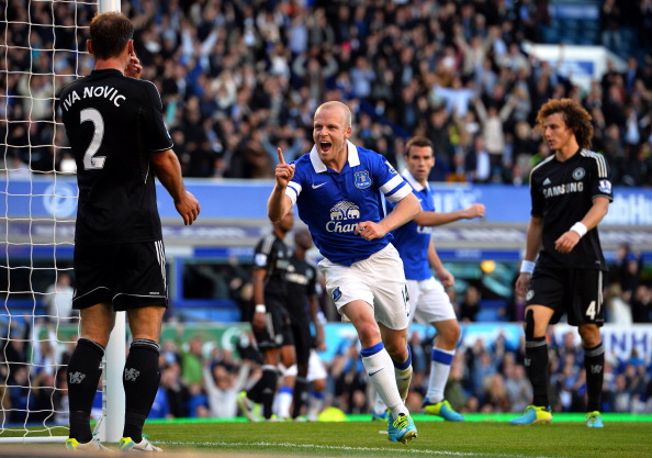 Steven Naismith celebrates scoring the winning goal