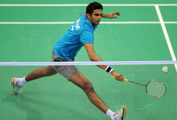 India's Anup Sridhar returns a shot agai