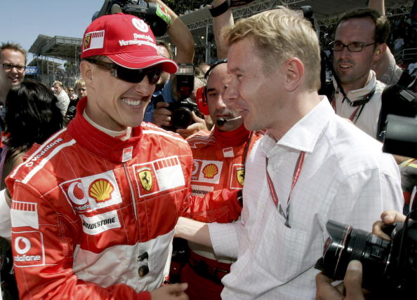 Despite their rivalry Michael Schumacher and Mika Hakkinen had respect for each other