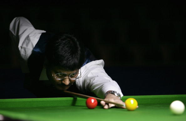 Indian Billiards player Alok Kumar plays