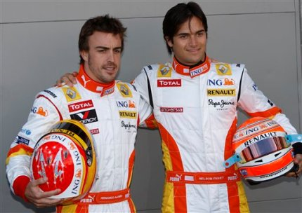 Nelson Piquet Jr. and Fernando Alonso
