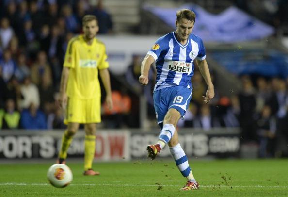 Nick Powell scores Wigan's 3rd goal