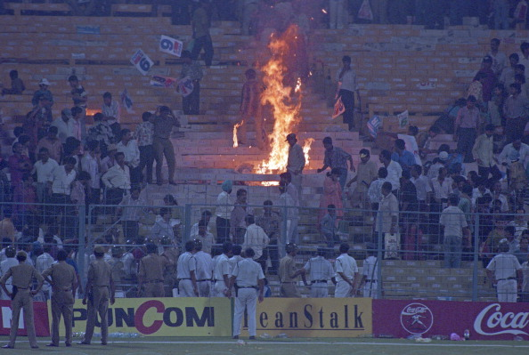 Eden Gardens was left flaming by angry supporters