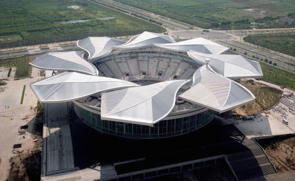 The Qizhong Stadium has a unique roof
