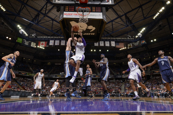 Ben McLemore #16 of the Sacramento Kings shoots the ball against the Memphis Grizzlies at Sleep Train Arena on November 17