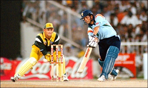 "Sachin Tendulkar during the ""Desert Storm"""