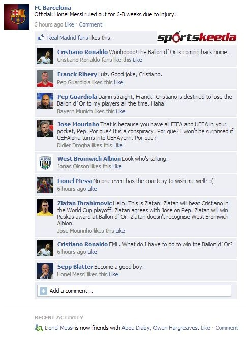 fb wall messi injury
