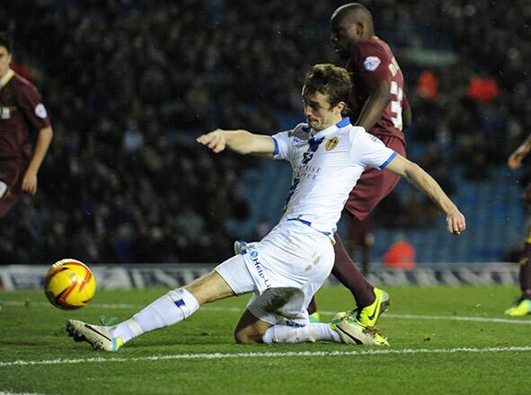 Danny Pugh scores Leeds' first goal