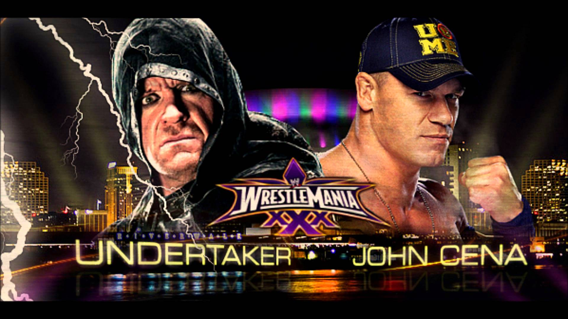 Undertaker Vs John Cena Wrestlemania 30 Title vs Streak...