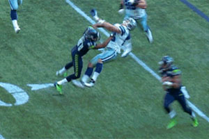 The Cowboys Jason Witten is decleated by Seattle wide receiver Golden Tate (credit: forums.chargers.com)