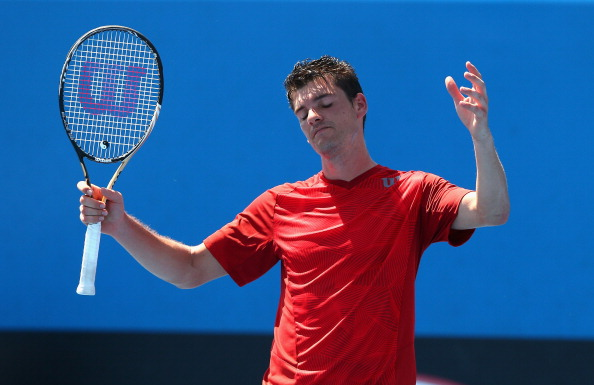 Frank Dancevic during his match due to scorching heat at the Australian Open
