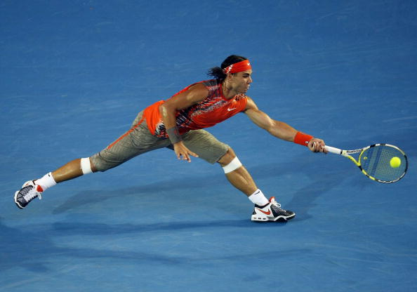 Rafael Nadal was stretched to his limit by Jo-Wilfried Tsonga during the 2008 Australian Open semifinal