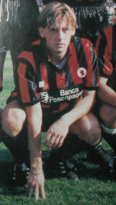 Signori as a teenager at Foggia. It was here that the young man learned his trade as a poaching striker (Credit: www.footballitaliano.co.uk)