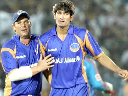Image result for shane warne batting for rajasthan royals