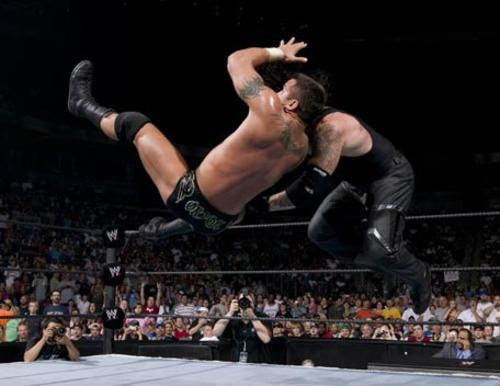 Image result for The Undertaker vs. Randy Orton wrestlemania 21