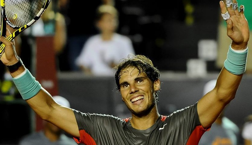 Rafael Nadal at the Rio Open in Brazil