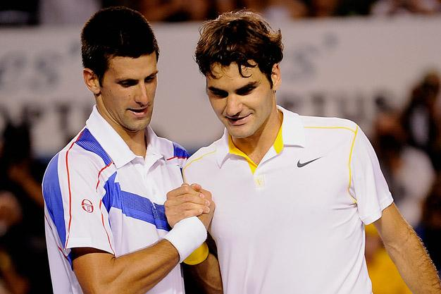 Novak Djokovic and Roger Federer will contest a blockbuster semifinal in Dubai today