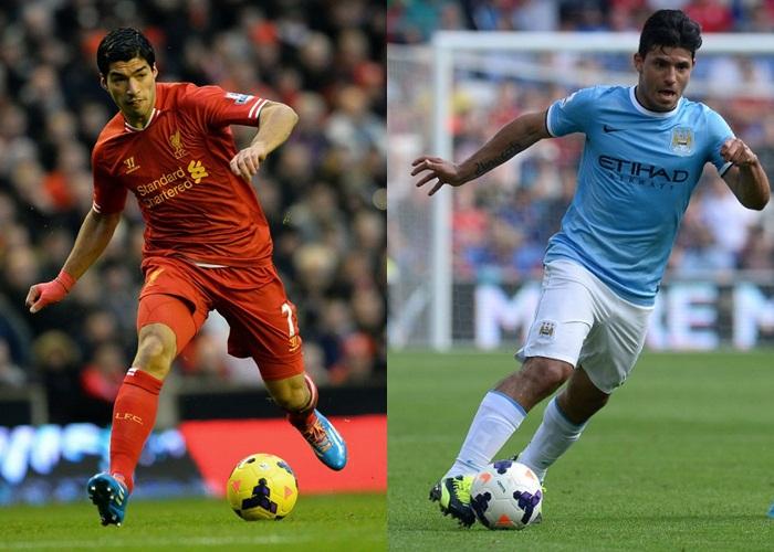 Suarez aguero top scorers premier league