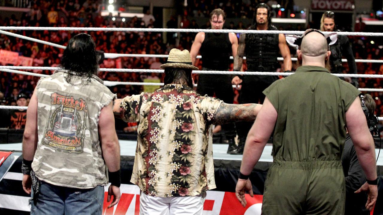 Image result for Shield vs Wyatt Family sportskeeda
